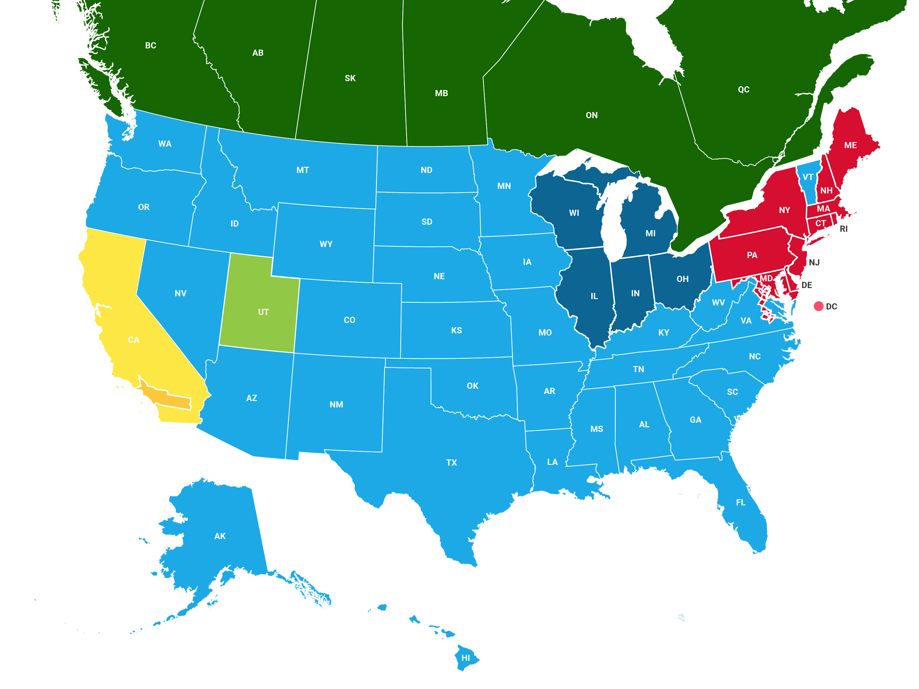 VOC Regulation Map